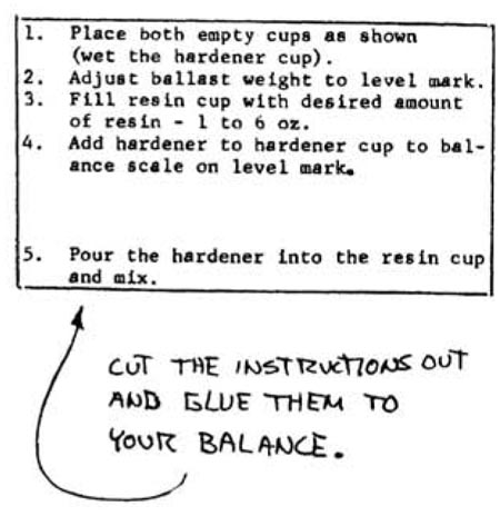 Quickie Balance Instructions